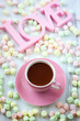 canvas print picture - Hot chocolate and marshmallow