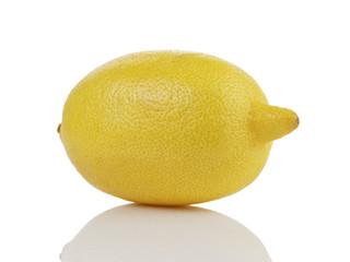 single whole ripe lemon