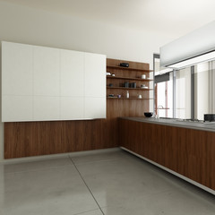 Kitchen accented in Wood (detai)