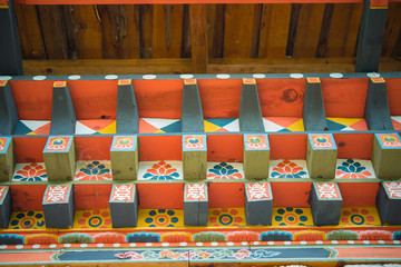 Bhutan carved wooden decoration