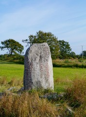 The Karlevi Runestone with a runic inscription on Oeland