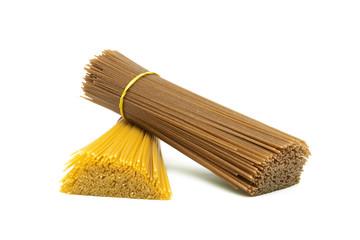 pasta closeup isolated on white background