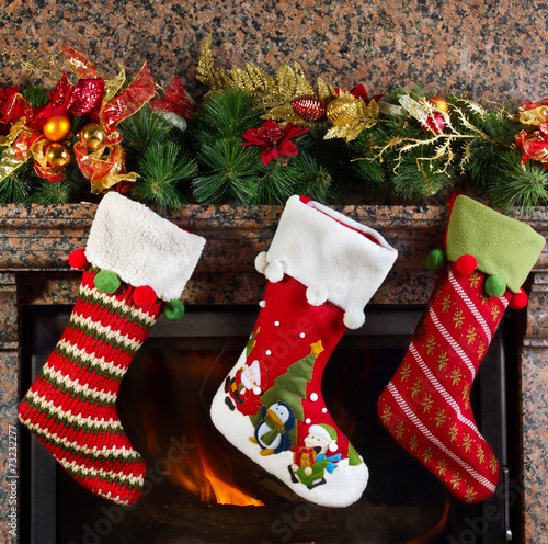 canvas print picture Christmas stocking