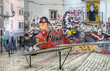 Leinwanddruck Bild - Street Art - Lisbon