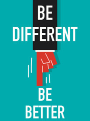 Word BE DIFFERENT