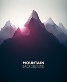 Mountain Background poster