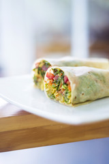 vegetarian roast vegetables wrap