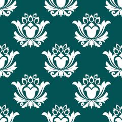 Floral arabesque seamless background pattern