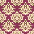 Vintage purple damask design