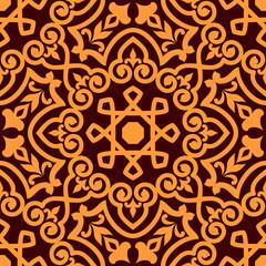 Bold intricate arabic seamless pattern