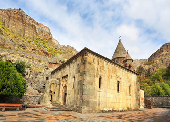 Courtyard of an ancient monastery
