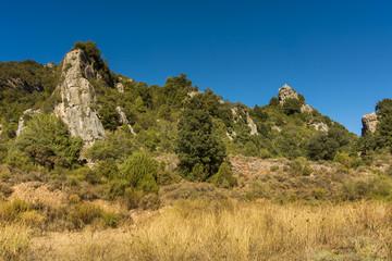 Uninhabited area in the Sardinian mountains