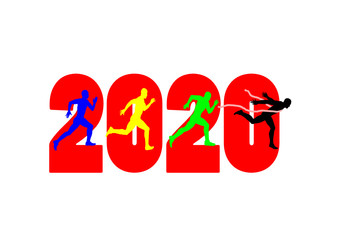 2020 and Runners. vector file
