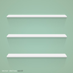 Shelves, Vector Illustration