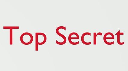 "Wooden Stamp Prints ""Top Secret"""
