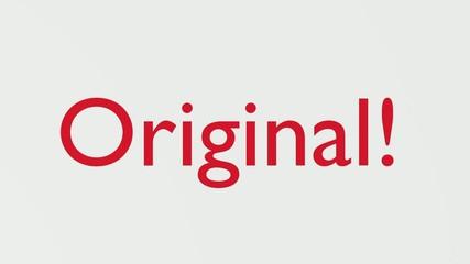 "Wooden Stamp Prints ""Original"""