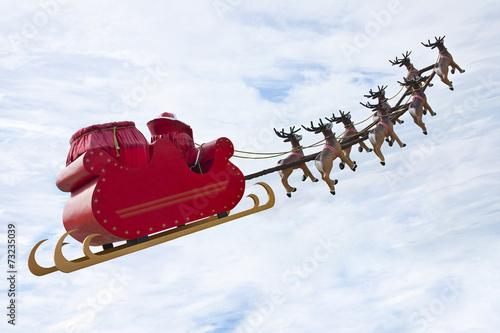 canvas print picture Farewell Santa Claus