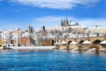 Prague castle and Charles bridge, Prague, Czech republic