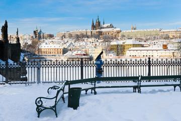 Prague castle and Charles bridge, Prague, Czech republic