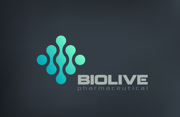 Biotechnology Molecule Atom DNA Chip Logo design