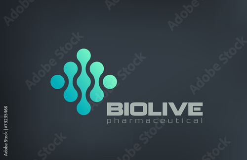 Biotechnology Molecule Atom DNA Chip Logo design - 73235466