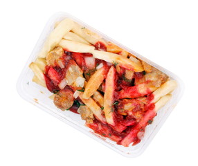 Salad in Tray Isolated