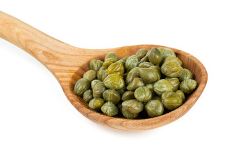 capers isolated on white