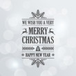 Merry Christmas Vintage Retro Typography Lettering Design - 73235827