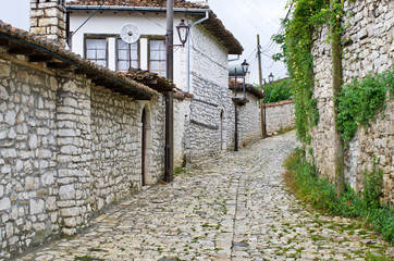 Narrow streets in Berat, Albania