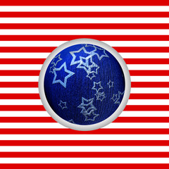 America - Natale - cartolina - palla natalizia blu