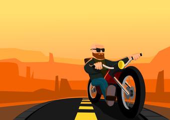 Biker in the Desert