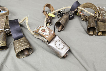 Old metal cowbells