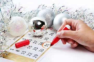 Christmas calendar and prepare for the New Year