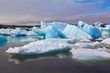 The ice floes are reflected in water - 73237614