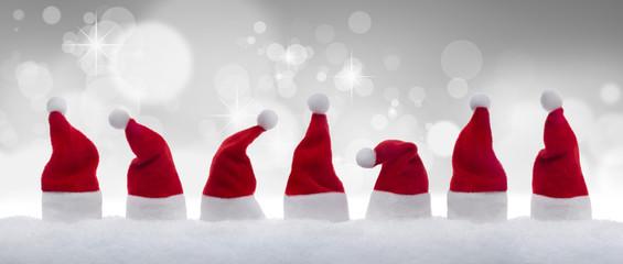 Weihnachtsmützchen vor Lichtspiel