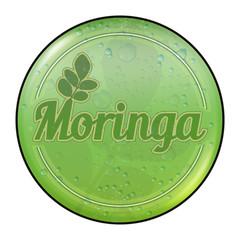 bg9 ButtonGrafik - Moringa Blätter Button - RetroDrops - g2547