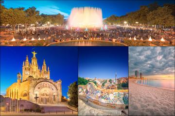 Collage of beautiful Barcelona