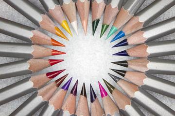 Pencil's rainbow