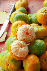 Citrusfrüchte auf einem Markt in Costa Rica