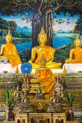 Golden Buddha Statue In Chapel
