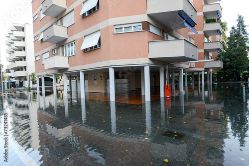 Inundation of lake Maggiore at Locarno - 73241465
