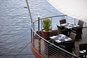 Stylish outdoors cafe