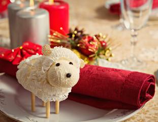 Овца на новогоднем столе