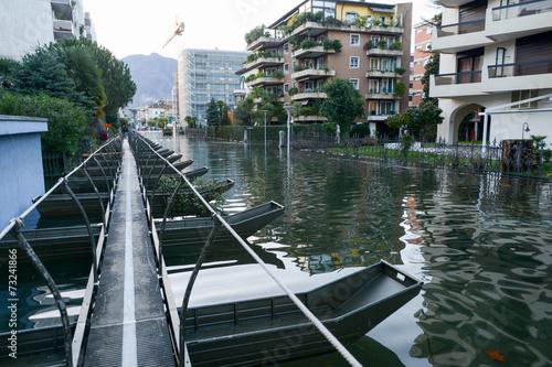 Inundation of lake Maggiore at Locarno - 73241866