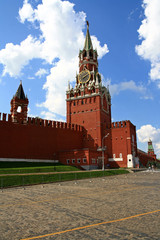 Russia. Moscow. Spasskaya Tower of the Moscow Kremlin.