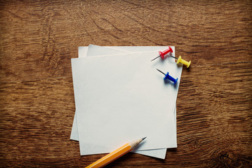 Blank white memo pages