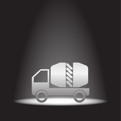cement truck vector icon