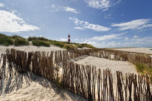 Leinwanddruck Bild Strand am Ellenbogen auf Sylt