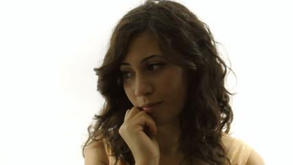 Vintage girl silhouette sad CU CC