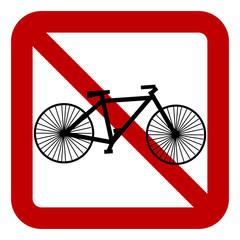 No bike sign